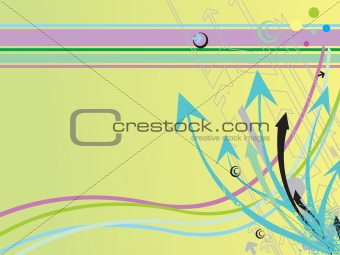 arrow to succes on green background, wallpaper