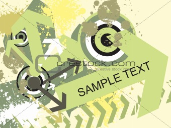 beautiful grunge effected texture of arrow theme
