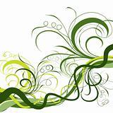 Decorative floral background, vector