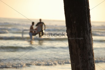 Skim Boarders at the Pier