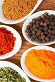 Spices jars background