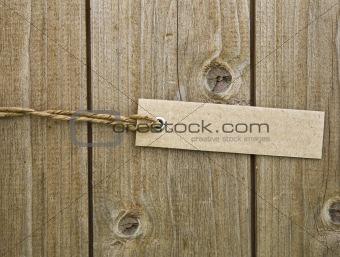 Blank Brown Cardboard Tag