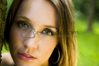 Green Eyes Portrait