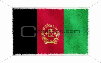 Flag of Afghanistan on old wall background, vector wallpaper, texture, banner, illustration