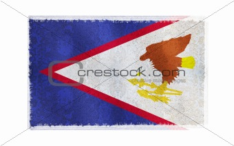Flag of American Samoa on old wall background, vector wallpaper, texture, banner, illustration