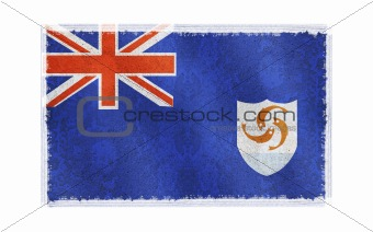 Flag of Anguilla on old wall background, vector wallpaper, texture, banner, illustration