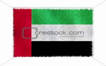 Flag of Arab Emirate on old wall background, vector wallpaper, texture, banner, illustration