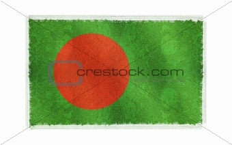 Flag of Bangladesh on old wall background, vector wallpaper, texture, banner, illustration