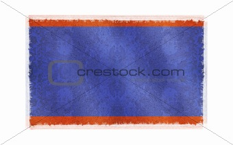 Flag of Belize on old wall background, vector wallpaper, texture, banner, illustration