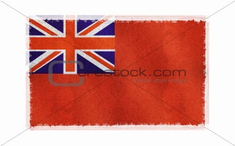 Flag of Bermuda on old wall background, vector wallpaper, texture, banner, illustration