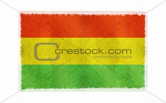 Flag of Bolivia on old wall background, vector wallpaper, texture, banner, illustration