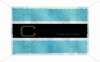 Flag of Botswana on old wall background, vector wallpaper, texture, banner, illustration