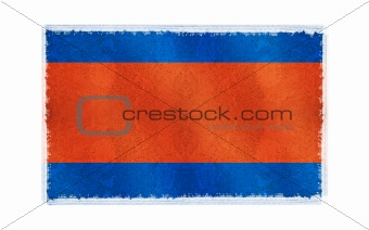 Flag of Cambodia on old wall background, vector wallpaper, texture, banner, illustration
