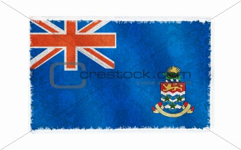 Flag of Cayman Island on old wall background, vector wallpaper, texture, banner, illustration