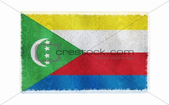 Flag of Comiros on old wall background, vector wallpaper, texture, banner, illustration
