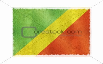 Flag of Congo on old wall background, vector wallpaper, texture, banner, illustration