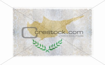 Flag of Cyprus on old wall background, vector wallpaper, texture, banner, illustration
