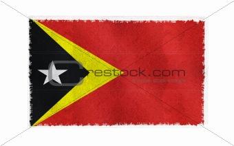 Flag of East Timor on old wall background, vector wallpaper, texture, banner, illustration
