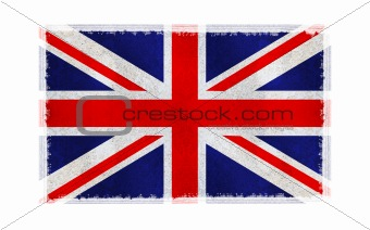 Flag of England on old wall background, vector wallpaper, texture, banner, illustration