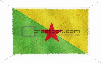 Flag of French Guiana on old wall background, vector wallpaper, texture, banner, illustration