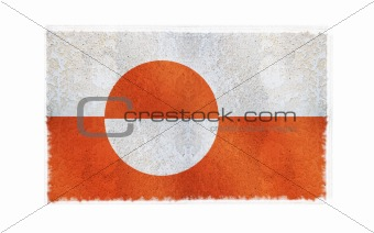 Flag of Gibraltar on old wall background, vector wallpaper, texture, banner, illustration