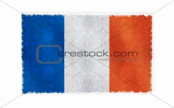 Flag of Guadeloupe on old wall background, vector wallpaper, texture, banner, illustration
