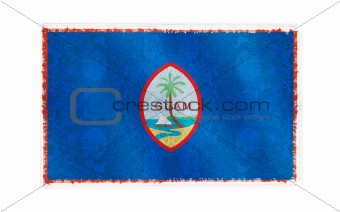 Flag of Guam on old wall background, vector wallpaper, texture, banner, illustration