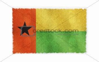 Flag of Guinea Bissau on old wall background, vector wallpaper, texture, banner, illustration