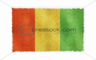 Flag of Guinea on old wall background, vector wallpaper, texture, banner, illustration