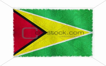 Flag of Guyana on old wall background, vector wallpaper, texture, banner, illustration