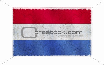 Flag of Holand old wall background, vector wallpaper, texture, banner, illustration