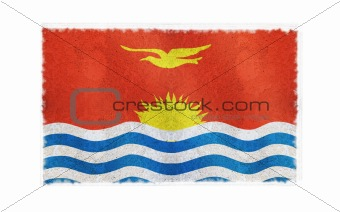 Flag of Kiribati on old wall background, vector wallpaper, texture, banner, illustration