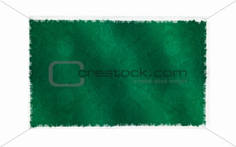 Flag of Libya on old wall background, vector wallpaper, texture, banner, illustration