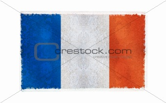 Flag of Mayotte on old wall background, vector wallpaper, texture, banner, illustration