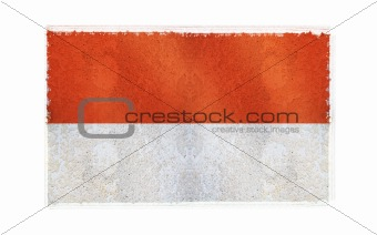 Flag of Monaco on old wall background, vector wallpaper, texture, banner, illustration