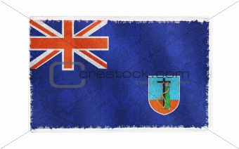 Flag of Montserrat on old wall background, vector wallpaper, texture, banner, illustration