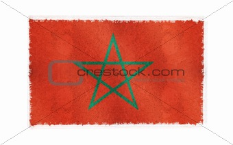 Flag of Morocco on old wall background, vector wallpaper, texture, banner, illustration