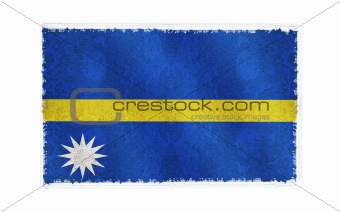 Flag of Nauru on old wall background, vector wallpaper, texture, banner, illustration