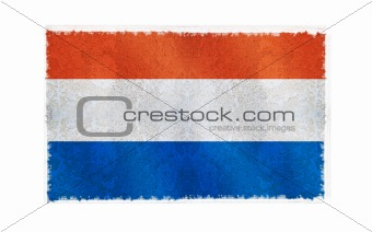 Flag of Netherland on old wall background, vector wallpaper, texture, banner, illustration