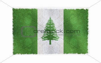 Flag of Norfolk Island on old wall background, vector wallpaper, texture, banner, illustration