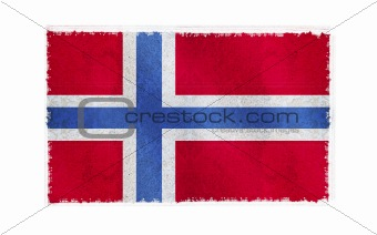Flag of Norway on old wall background, vector wallpaper, texture, banner, illustration