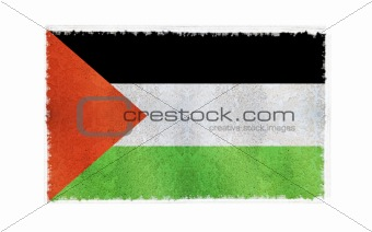Flag of Palestine on old wall background, vector wallpaper, texture, banner, illustration