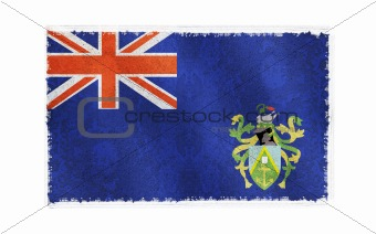 Flag of Pitcairn Island on old wall background, vector wallpaper, texture, banner, illustration