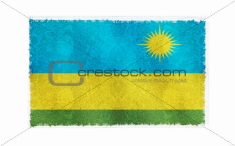 Flag of Rwanda on old wall background, vector wallpaper, texture, banner, illustrationFlag of Rwanda on old wall background, vector wallpaper, texture, banner, illustration