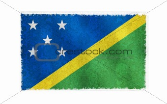 Flag of Solomon Island on old wall background, vector wallpaper, texture, banner, illustration