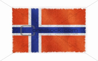 Flag of Svalbard on old wall background, vector wallpaper, texture, banner, illustration