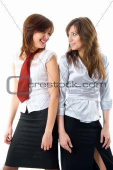 Beautiful businesswomen in team