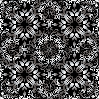 Abstract floral repeat silver