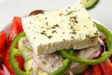 Close up of a Greek Salad