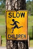Weathed Slow Children Street Sign